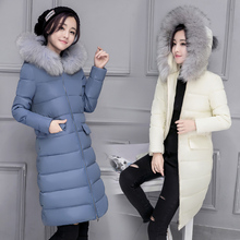 Women's Down Jackets 2016 New Fashion Style Hood With a Big Fur White Duck Down Snow Wear Quality Clothing Free Shipping JX901