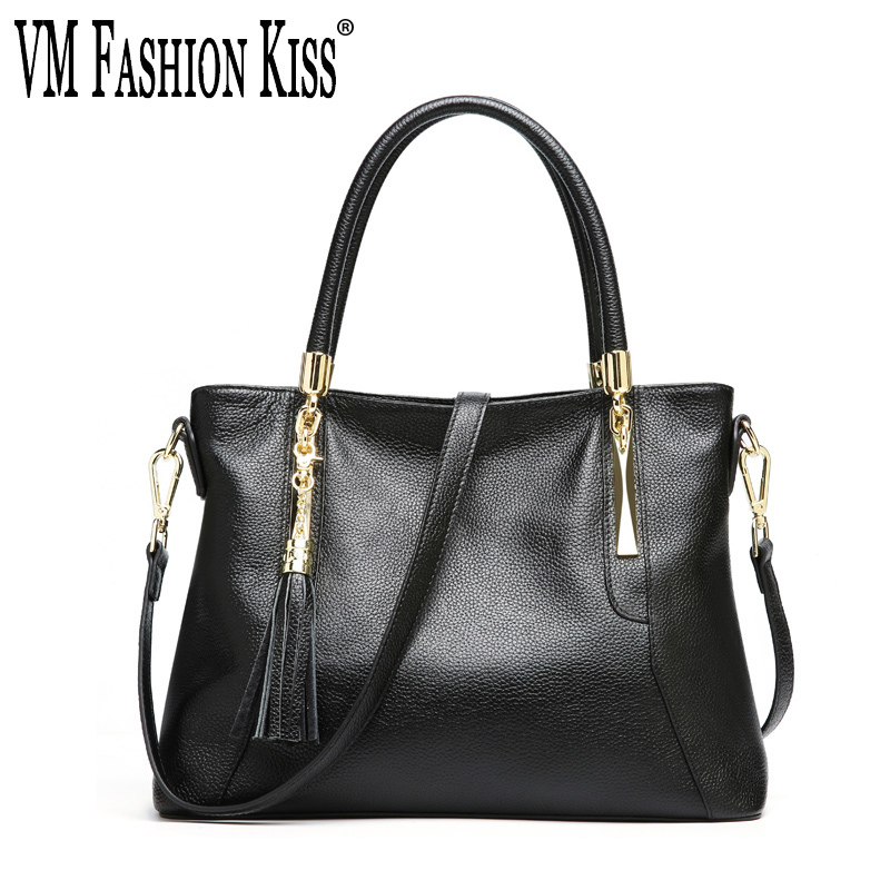 VM FASHION KISS Genuine Leather Women Tassels Shoulder Messenger Portable Crossbody Bags For Women Bolsas Feminina Handbags VM FASHION KISS Genuine Leather Women Tassels Shoulder Messenger Portable Crossbody Bags For Women Bolsas Feminina Handbags