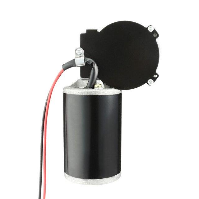 Uxcell (r) 1 pces 4n. m reversível do motor da engrenagem de sem-fim velocidade de torque alto reduzindo a caixa de engrenagens elétrica Motor-JCF63R dc24v 80 w 160 rpm