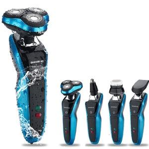 Image 1 - Yeni tasarım elektrikli tıraş makinesi USB şarj sakal düzeltici tüm vücut yıkama sakal kesme makinası profesyonel elektrikli tıraş makinesi