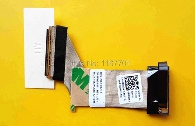 New Original Laptop/Notebook LCD/LED/LVDS Audio/Video CABLE For Dell Latitude ST DP6 Tablet PC 0RRDX2 50.4NW05.001 50.4NW05.011