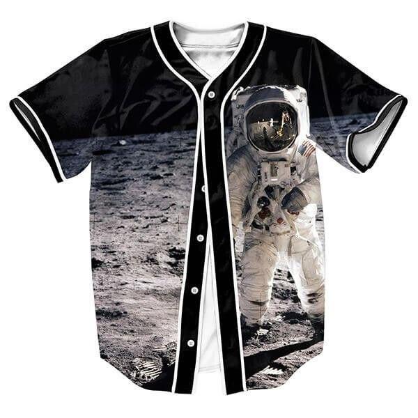 Astronauta en la Luna Camiseta Hop hombres camisetas 3d espacio overshirt camisa Streetwear tops Casul con Un Solo Pecho