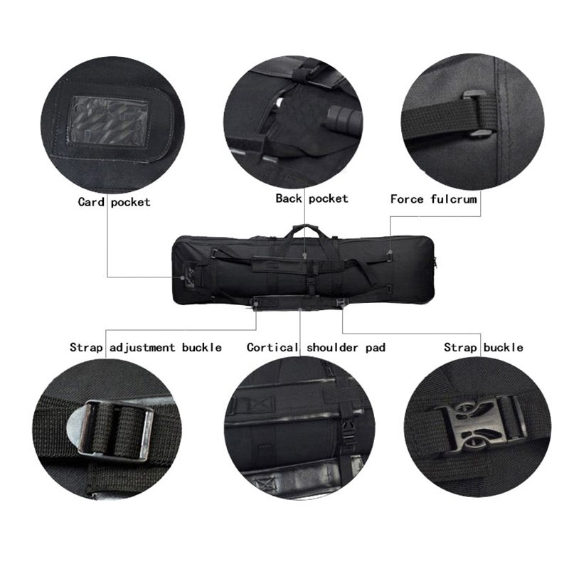 Image 5 - 94cm Tactical Gun Carry Shoulder Backpack Hunting Airsoft Paintball Rifle Case Nylon Heavy Duty Sport Bag-in Holsters from Sports & Entertainment