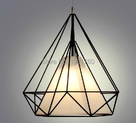 dia68cm Artistic Creativity Iron Pendant light Drop light Lamp For dinning room Restaurant Lighting Diamond Shape