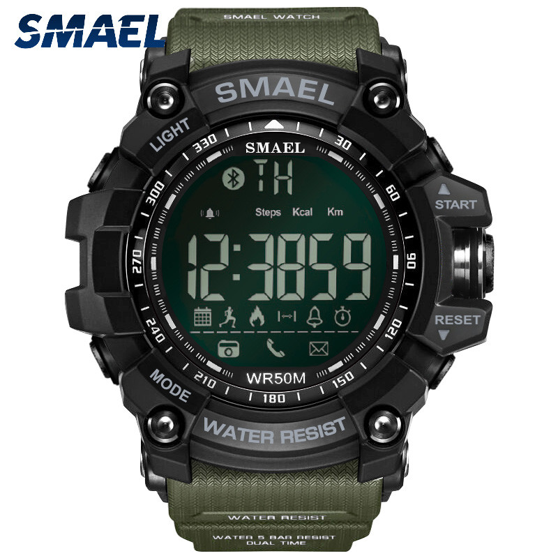 SMAEL Fashion Mens Smart Watch Bluetooth Digital Sports Wrist Watch WaterproofSMAEL Fashion Mens Smart Watch Bluetooth Digital Sports Wrist Watch Waterproof