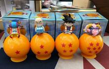 4 pcs 6 cm Q versão pvc figura anime Japonês Dragon Ball Son Goku Kuririn Majin Buu action figure collectible brinquedos modelo(China)
