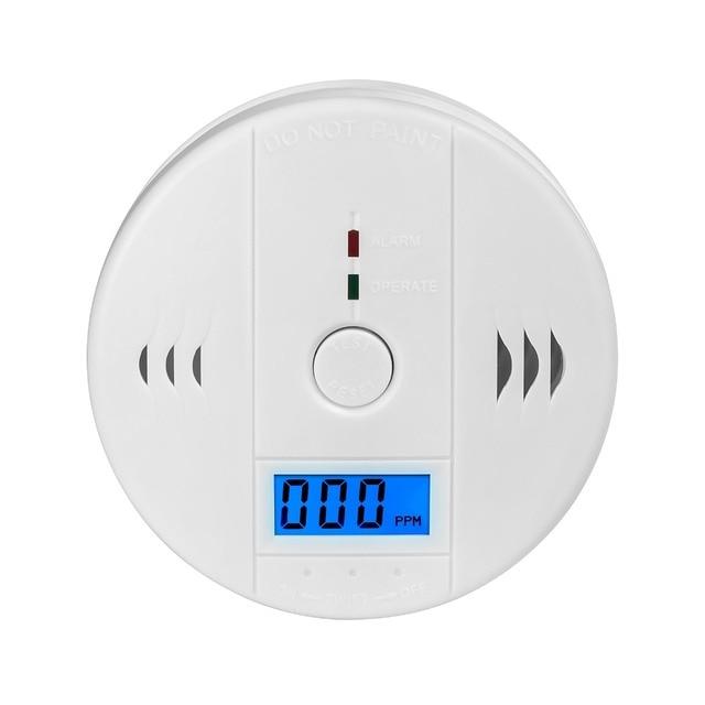 10pcs High Sensitive LCD Digital Backlight Carbon Monoxide Alarm Detector Tester CO Gas Sensor Alarm for Home Security 85dB