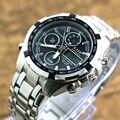 Мужские часы, высокое качество, цифровые часы, мужские военные наручные часы, полный стальной двойной дисплей, наручные часы, Relogio Masculino