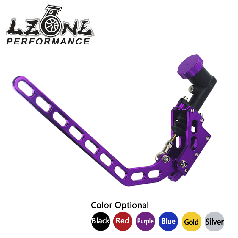 LZONE RACING - General Racing Car Hydraulic E-BRAKE Drift Rally Lever Handbrake Gear JR3635 twin dual master cylinder hydraulic handbrake drift e brake parking emergency brake lever vertical horizontal universal black