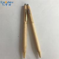 Hot Emoshire Promotional High End Ladies Dedicated Wood Ballpoint Pen Gift Pen Company LOGO Custom Ballpoint