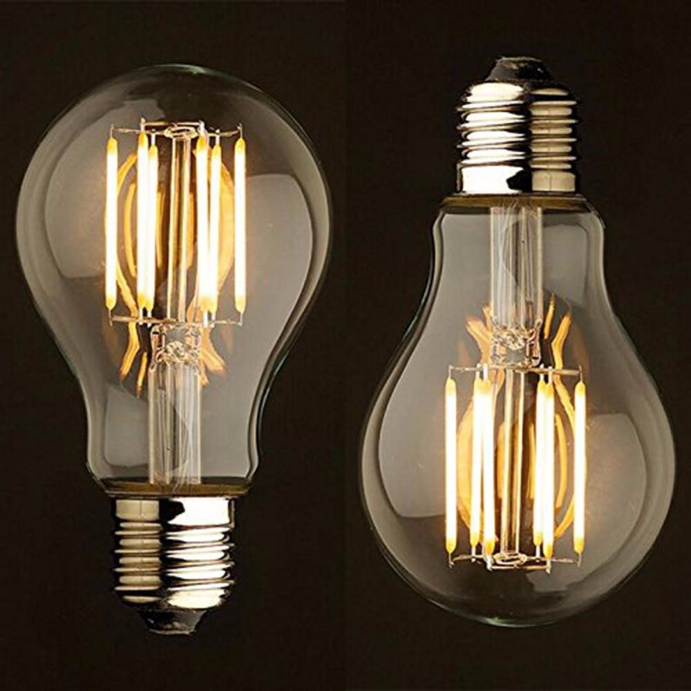 Antique Retro Vintage Edison Bulb E27 Light 220V 2W/4W/6W/8W Incandescent Light Bulbs A19 LED Cob Bulb Edison Lamps Fixtures 5pcs e27 led bulb 2w 4w 6w vintage cold white warm white edison lamp g45 led filament decorative bulb ac 220v 240v