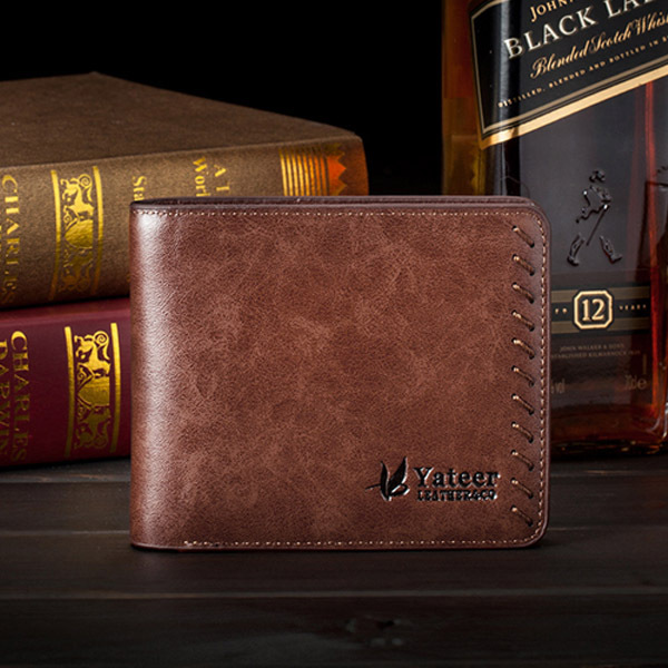 Fashion Design Soft PU Leather Wallet Short Purse Business Men Wallet Thin Card Holder Braid Masculina frank buytendijk dealing with dilemmas where business analytics fall short