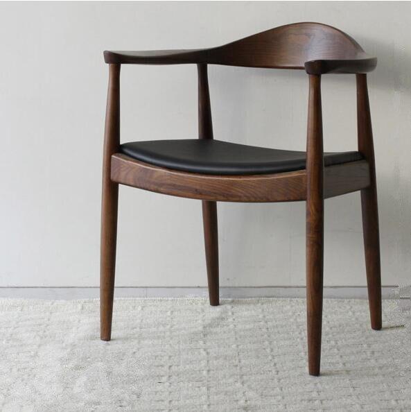 Mitte Des Jahrhunderts Presidential Esszimmerstuhl Sessel In Echt Leder  Sitz Esszimmermöbel Moderne Holz Stuhl Für Haus In Mitte Des Jahrhunderts  ...