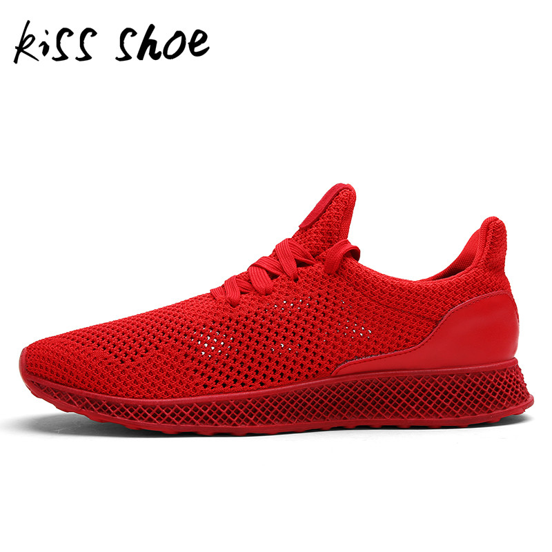Kiss Shoes MWSC Designed Fly Weave Mens Casual Shoes Future Theory Male Breathable Lace  ...