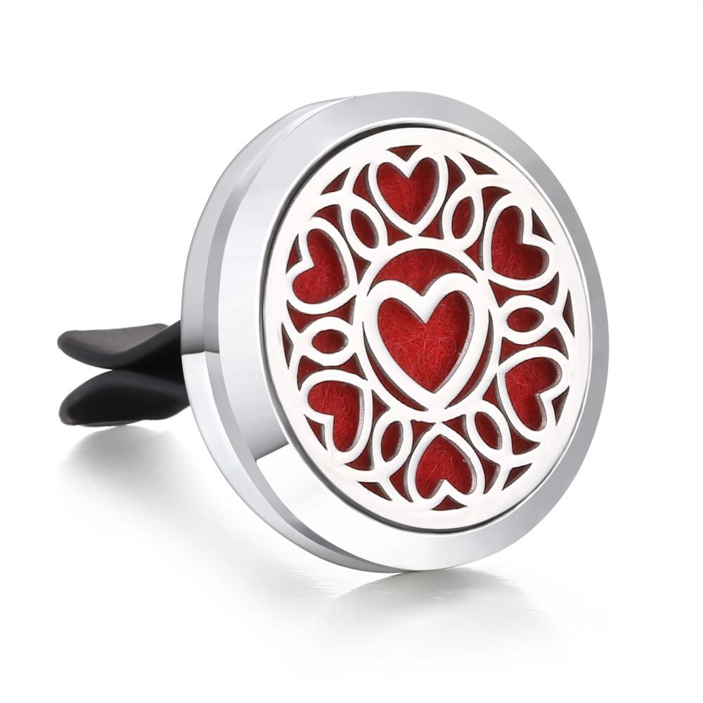 Ароматический диффузор ожерелье открытый медальон Подвеска для ароматерапии диффузор эфирного масла автомобильный освежитель воздуха автомобильный парфюмерный диффузор зажим - Окраска металла: 21