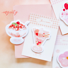 Get more info on the 6 pcs Icecream Summer memo note set Mini sticky marker Cake Ice paper sticker planner diary Stationery tools Office School F597