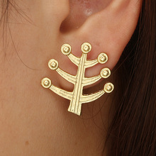 1 Pair New Fashion Stud Earrings Tree of Life Plant Earring For Women Jewelry Girl Couple Bijoux Femme Wholesale