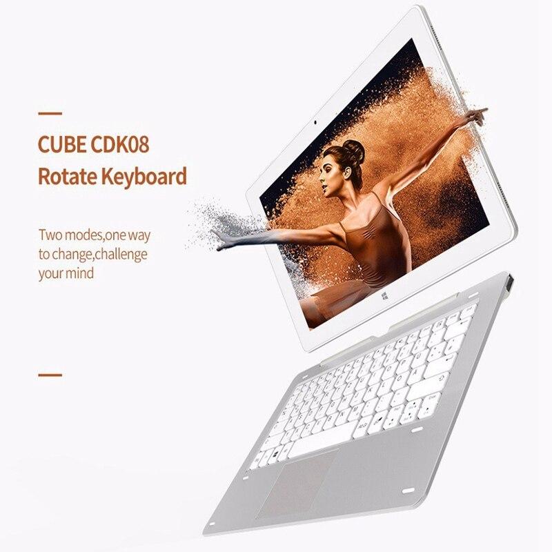 все цены на Original Cube CKD08 Docking Keyboard Dual USB Rotation Magnetic Keyboard Dock 11.6 inch For Cube iwork1x Keyboard Tablet PC онлайн