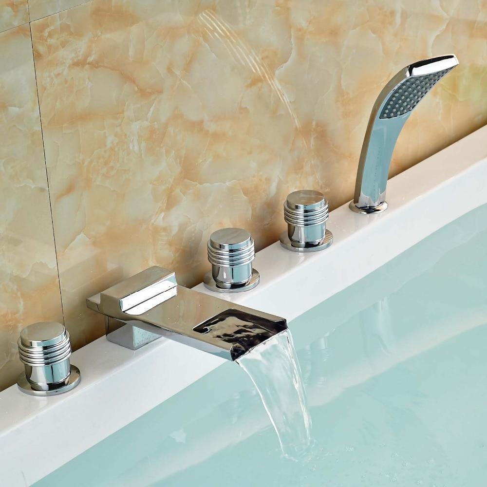 Aliexpress.com : Buy Waterfall Widespread Bathroom Bath ...