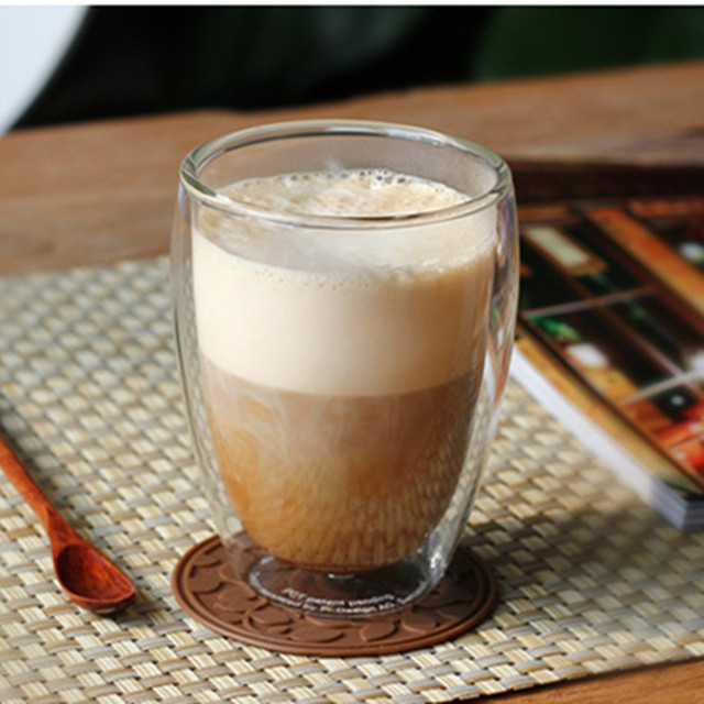 Heat Resistant Double Wall Glass coffe Cup Beer Tea Coffee Espresso Cup Handmade Creative Healthy Beverage Glasses Transparent 1