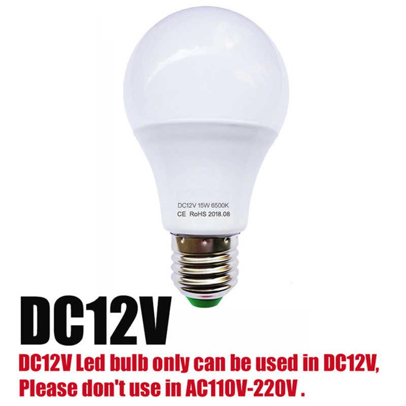 חדש LED הנורה מנורת AC/DC 12 V 24 V 36 V 48 V E27 3 w 6 w 9 w 12 w 15 w חיסכון באנרגיה Lampada 12 וולט Led אור חיצוני תאורה