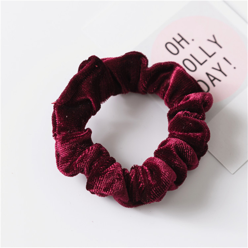 Hot Female Simple Velvet Hair Rope Scrunchie Elastic Hair Rubber Bands Girl Hair Accessories Ponytail Holder in Women 39 s Hair Accessories from Apparel Accessories