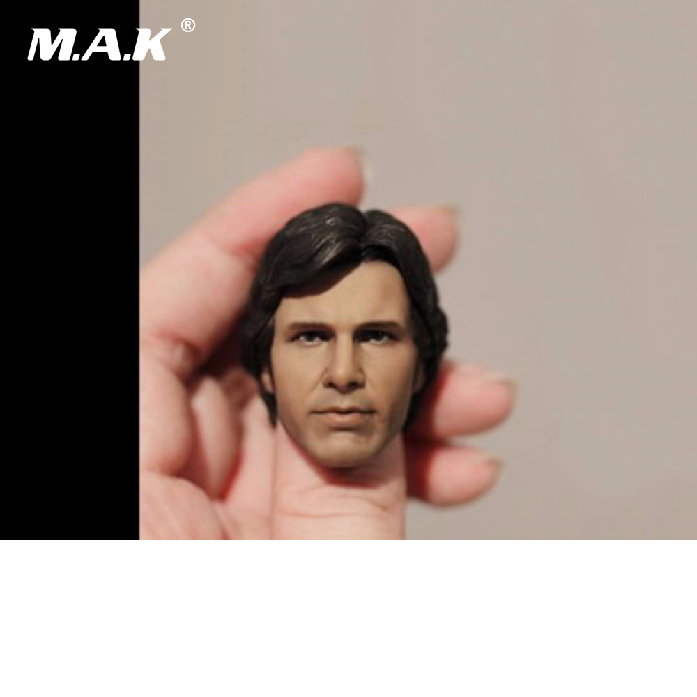 1/6 Scale Male Head Sculpt of Harrison Ford : Han Solo in Star Wars For 12 Action Figure  Body Toys 1 6 scale figure head shape for 12 action figure doll rise of the planet of the apes caesar doll head for figure accessories