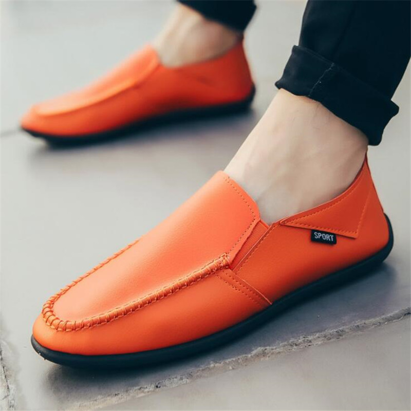 Loafers Comfortable Sneakers Boat Fashion-Brand Driving Casual Shoes Flat Autumn Red