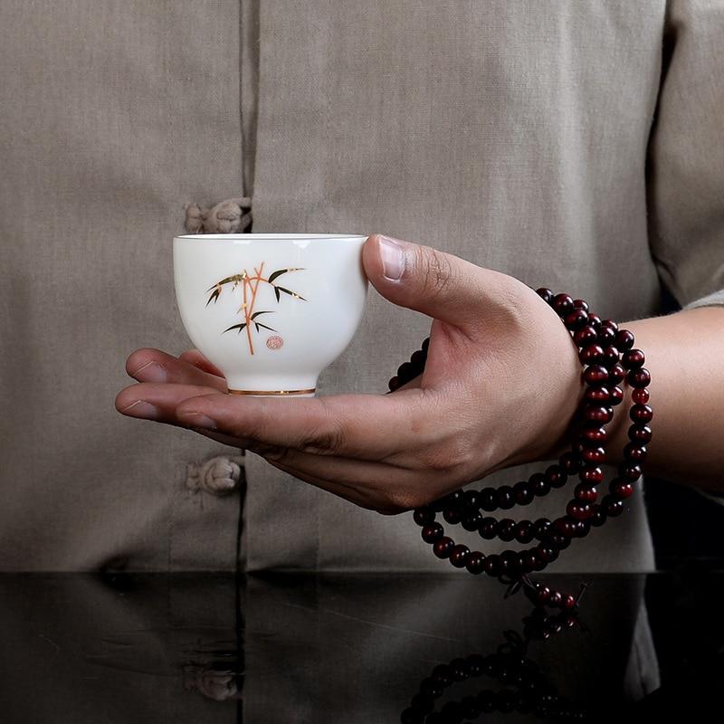 Premium Handpainted Ceramic Gong Fu Tea Cups Set 5
