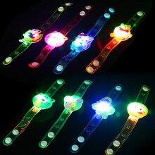 Light-Bracelet Led-Lamp-Toy Flash Cartoon-Toy Wrist PVC Stall-Selling Creative Luminous