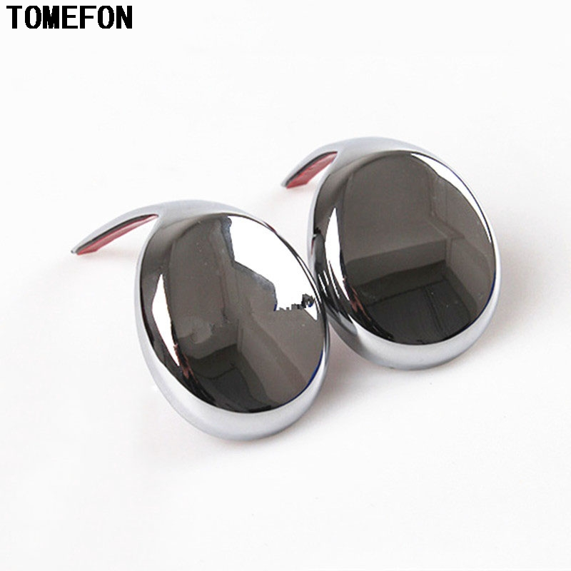 TOMEFON For T0Y0TA RAV4 2014 2015 2016 Gear Head Sequin Trim Newest ABS Chrome Matte Gear