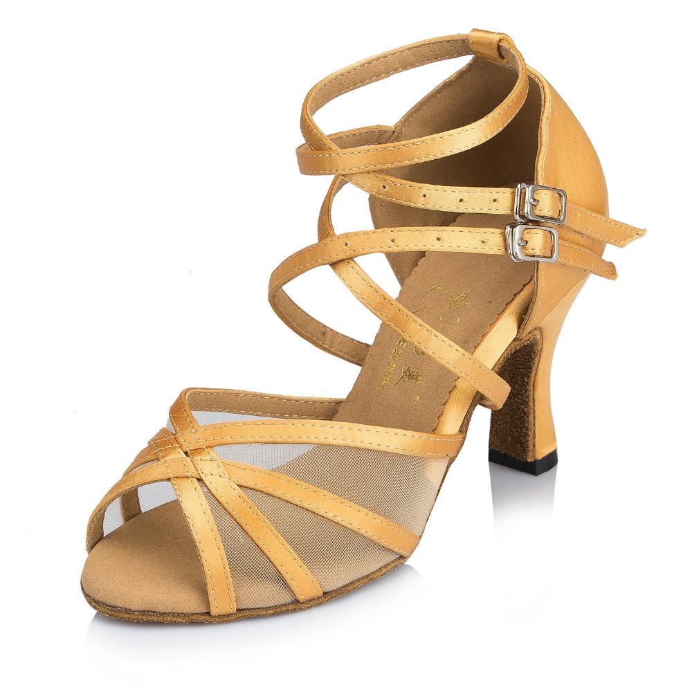 Tango Ballroom Dance SALSA Stilettos Shoes Peep Toe High Heeled Large Zsell