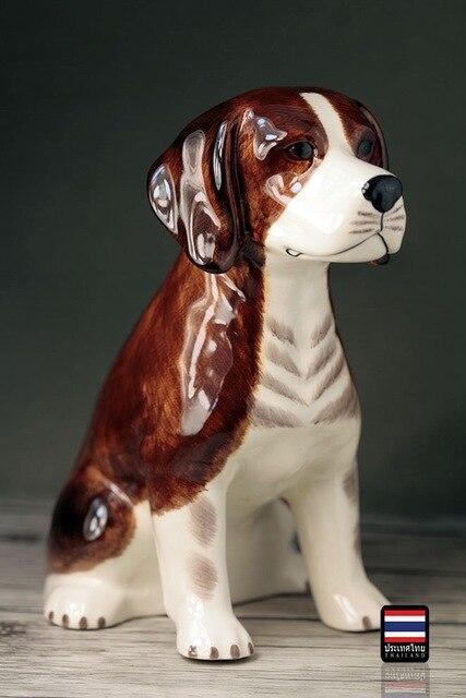 Keramik Tier Beagle Hunde Sparschwein Wohnkultur Handwerk Kinderzimmer  Dekoration Objekte Puppen Ornament Porzellan Tierfiguren