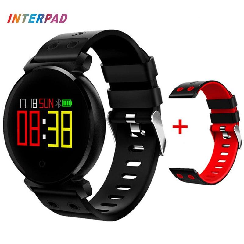 Interpad K2 Bluetooth Smart Watch IP68 Водонепроницаемый красочные OLED Smartwatch крови Давление монитор сердечного ритма для iOS Android