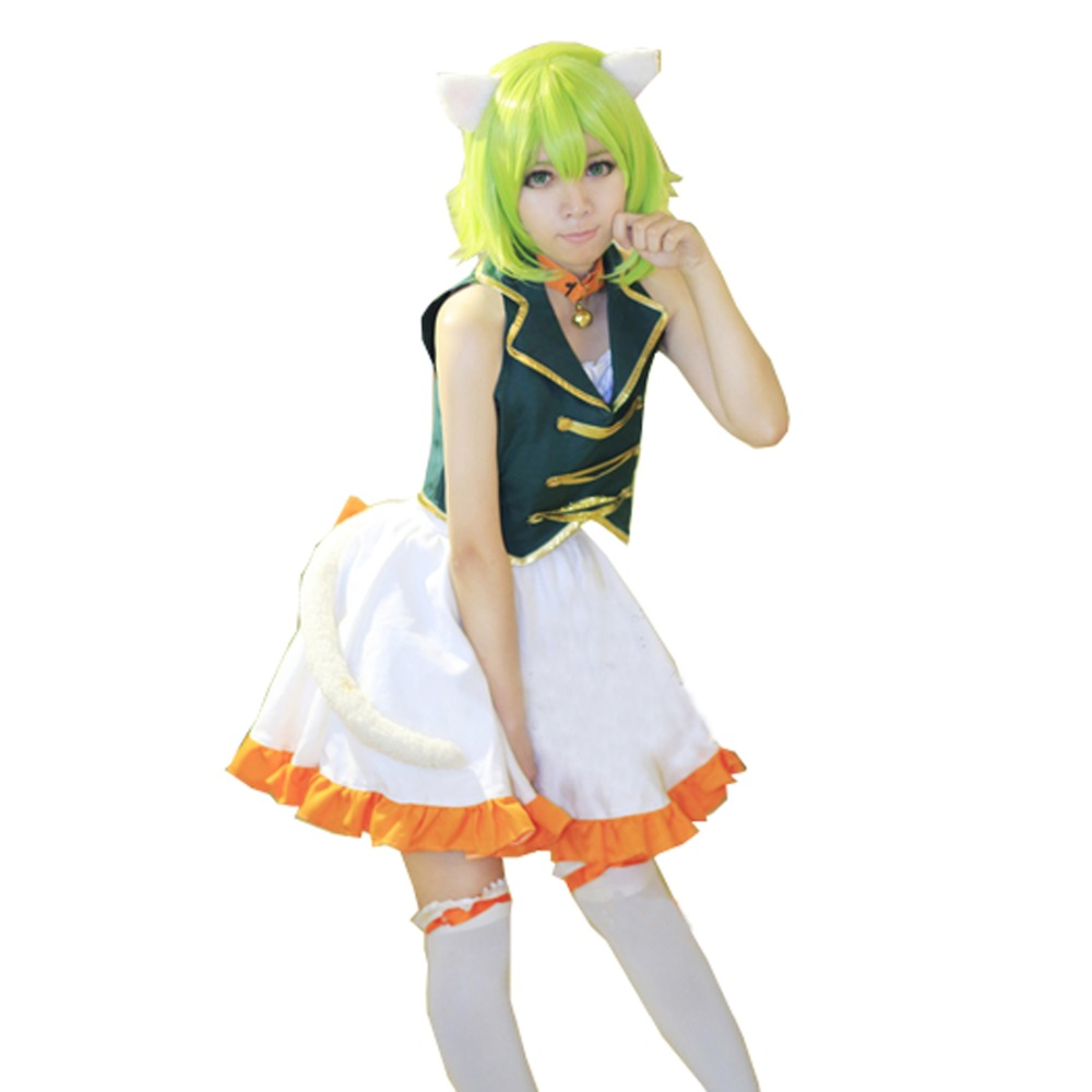 2017 Anime Vocaloid Miku Gumi Cosplay Costume Party Dress