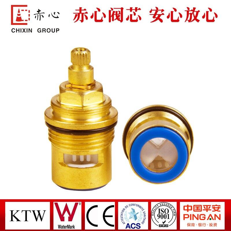 Factory Direct 3 / 4KJ-SH128 Quick Copper Spool Mixed Water Valve Spool Plumbing Accessories Faucet Core Custom