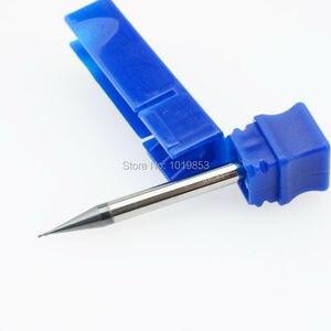 Image 2 - CGS 250 0.3mm 0.4 0.5 0.6x4x50L 0.7mm 0.8 0.9 Katı Tungsten Karbür küçük Mikro Çaplı End Mill gümüş işleme veya 50HRC