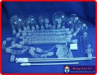 Лаборатории Набор стеклянной посуды, органические стеклянная посуда для химической лаборатории комплект 28 шт. Набор стеклянной посуды