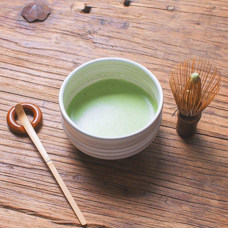 Cérémonie japonaise bambou chasen matcha fouet chashaku thé scoop matcha bol en céramique maison cuisine thé outils set accessoires