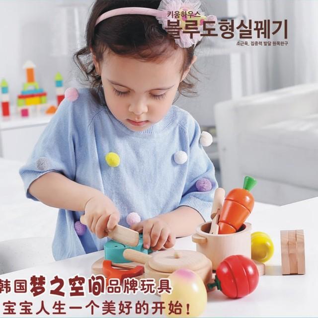 Mädchen spielzeug Pretend Play magnetische holz geschnitten obst ...