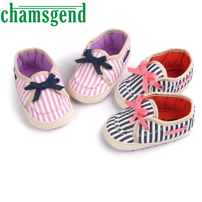 Girl Stripe Canvas Shoe Baby Boys Shoes Sneaker Anti-slip Soft Sole Toddler ap0312-2
