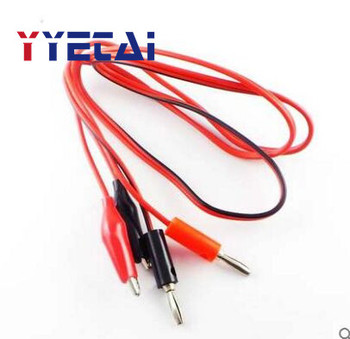 Red and black banana plug to alligator clip test line alligator clip wire banana plug wire DD image