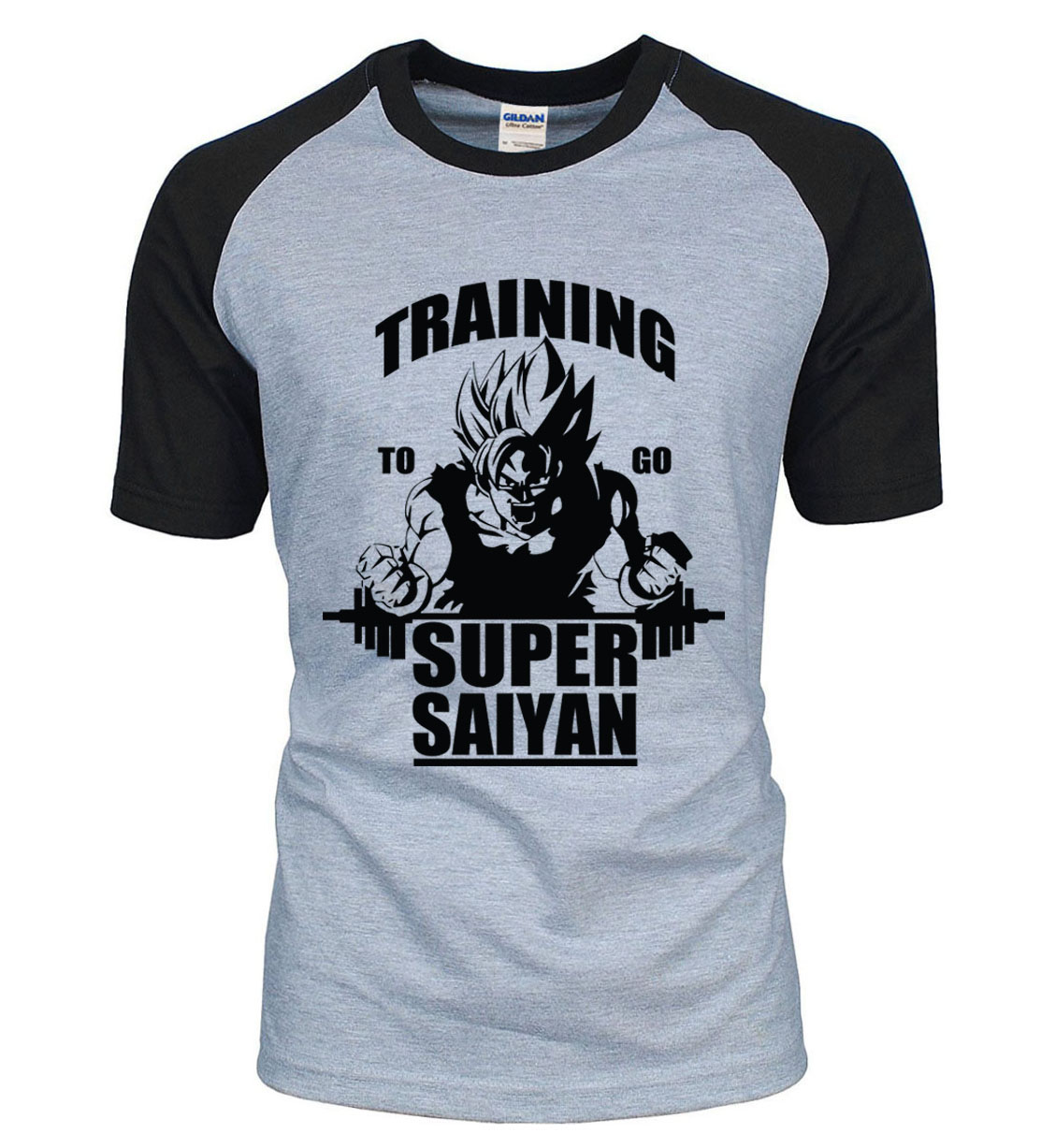 Adult Anime Dragon Ball Super Saiyan   t     shirt   2019 new summer 100% cotton high quality raglan men   t  -  shirt   casual top tees S-2XL