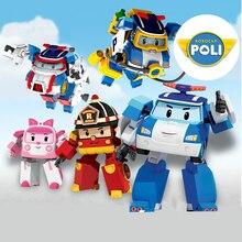 2019 New 4pcs/Set Robocar Poli Korea kids Toys super wings Robot Transformation Anime Action Figure Toys For Children playmobil