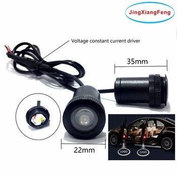 Funda JingXiangFeng para Peugeot 12V LED Interior fantasma sombra luz Auto Logo accesorios decorativos bienvenida Puerta de cortesía