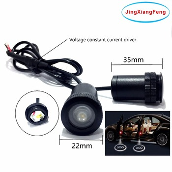 JingXiangFeng Case For Peugeot 12V LED Interior Ghost Shadow Light Auto Logo Car Decorative Accessories Welcome Courtesy Door