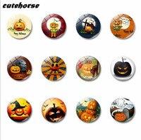 Cutehorse 12ピース/セット熱い販売漫画シリーズハロウィンカボチャシリーズ冷蔵庫マグネットテープホワイトボードガラス磁気ステッカー