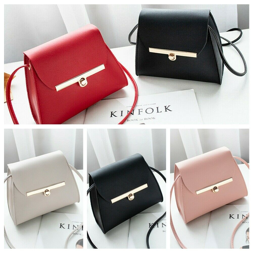 Women PU Leather Handbag Satchel Messenger Cross Body Shoulder Money With Cash Square Bag Purse