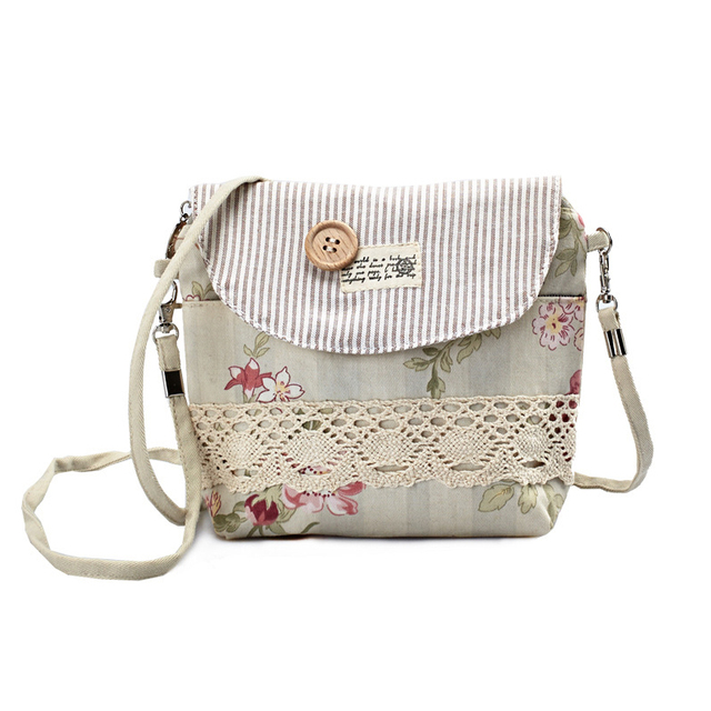 QZH Women Mini Messenger Bags Flap Bag Lady Fresh Style Canvas Printed  Crossbody Shoulder Bags Small Female Coin Purse Handbags 141a342d0504c