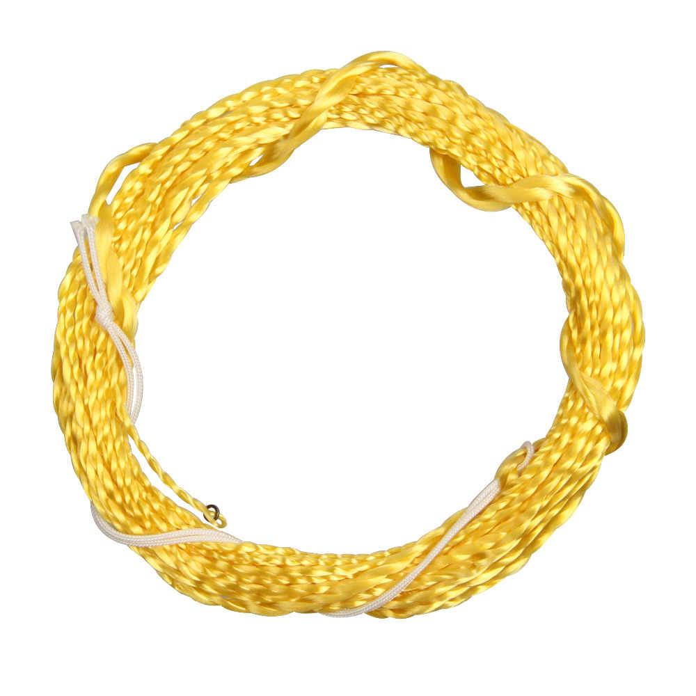 12 / 13FT Furled Leader Tenkara Fly Fishing Line Polyester Braided Furled Leader Tenkara Line Grass Green Gold Black Yellow